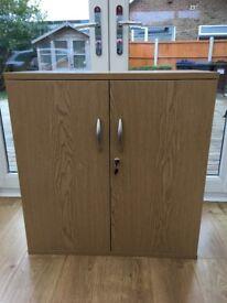 Brand new oak finish cupboard
