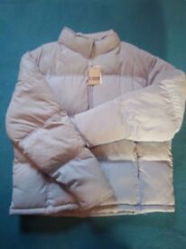 New Ladies Pale Blue Puffa Coat Size 16 IP1