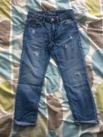 BRAND NEW BABY GAP GIRLS GIRLFRIEND FIT MEDIUM WASH JEANS 7 YEARS RRP £14.99