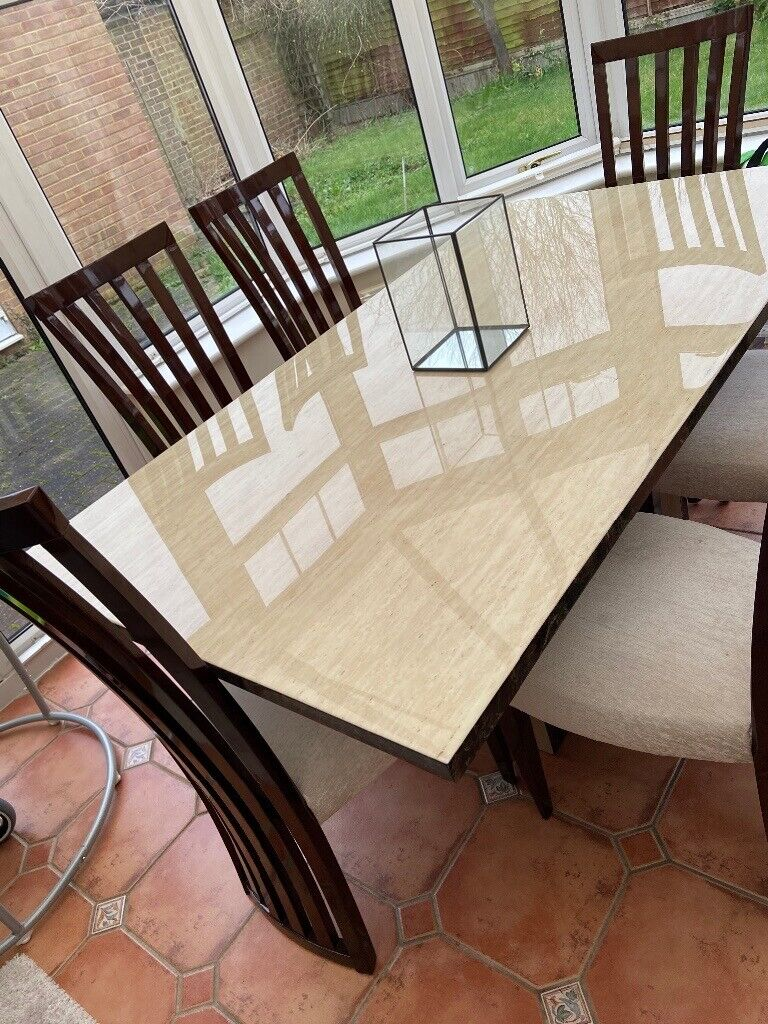 Dining Table Side Cupboard 6 Chairs Furniture Village Used Like New Retails 3200 In Burnham Berkshire Gumtree