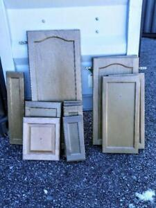 Oakville 11 KITCHEN CUPBOARD DOORS & HINGES Solid Wood Ash  Next to New Handles missing Recycled