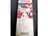 London rugby sevens sat ticket x1 lower tier fab seat