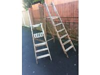 Vintage Wooden Step Ladders / His & Hers 2 Sets Ideal Wedding Venue Decoration