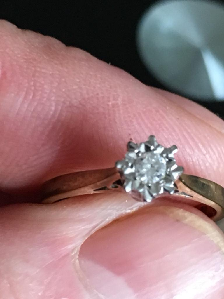 Diamond 9 cart ring | in Bishop Auckland, County Durham | Gumtree