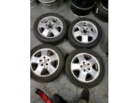 Mercedes A class alloy wheels with tyres