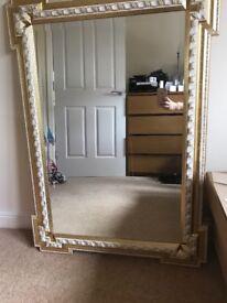 Ornate Gold Comoured Mirror