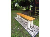 Handmade rustic bench