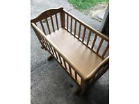 Wooden baby crib - free to good home