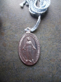 NEW Miraculous Medal - Medal of the Our Lady of Graces, on blue thread. £3.50 ovno. Happy to post
