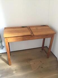 Mid century real wood school desk