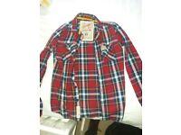 Superdry Lumberjack twill check shirt size Small