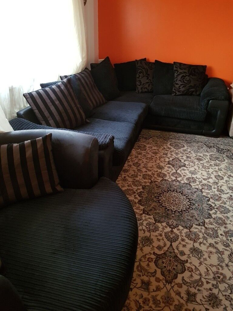 Quick Sale Today Dfs Corner Sofa And Swivel Cuddle Chair