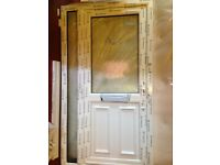 PVC Front Door ---NEW---- with Side Panel and letterbox