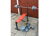 Pro Power Bench With Weights Set. Can Deliver