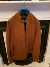 Brown Suede Jacket (Zara)