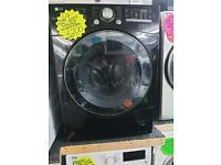 10kg load black LG washing machine
