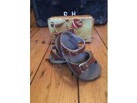 Boys SaltWater Sandals - size 7 - tan