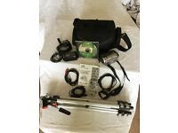 JVC GZMG21E/EK camcorder with 20GB hard drive, bag and tripod