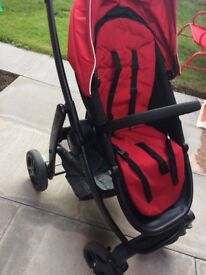 Graco Evo pushchair black & red unisex