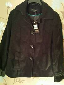 Ladies size 10 black coat .New with tags.