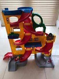 Fisher-price little people wheelies stand & play car ramp.