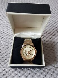 Mens Armani Exchange Gold Watch