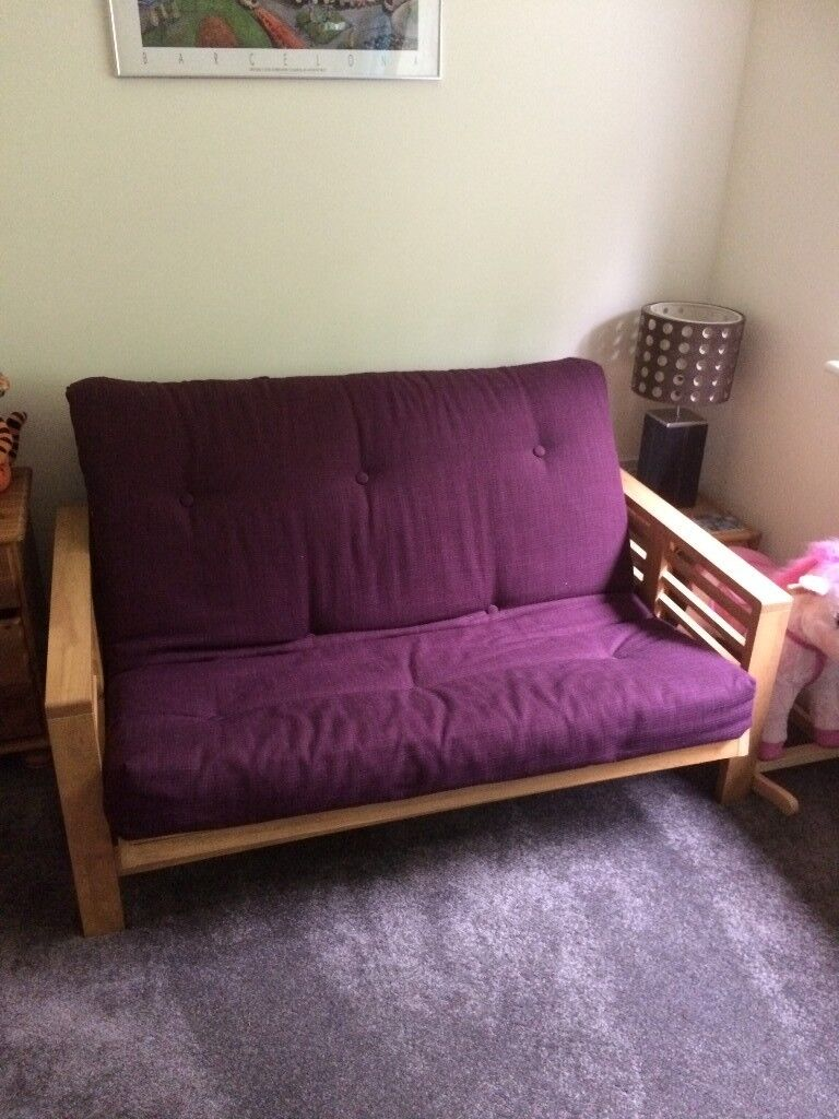 Nearly New Comfortable Futon Sofabed From Futons Ltd Perfect Condition Victoria Plum Colour