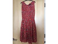 Dorothy Perkins size 18 Red Dress with Hearts
