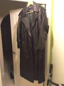 Real Leather Full Length Coat - Hardly Used
