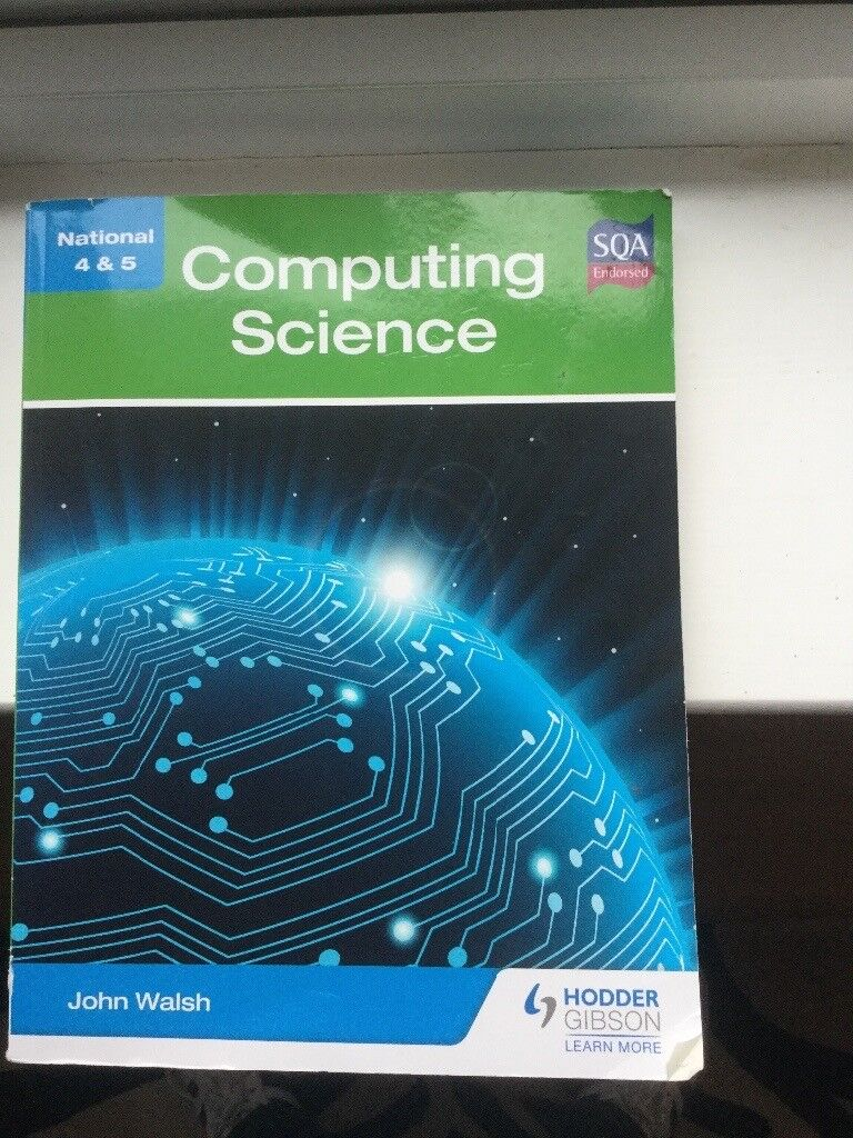 National 5 computing science text and past papers.