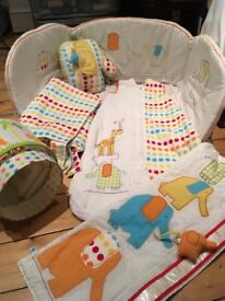 Nursery cot/ bedding / curtain etc bundle