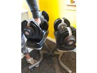 BodyMax 32.5kg Seletabell dumbells and stand