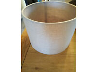 Stone coloured lampshade. 30 D, 21.5 Ht. 2 items