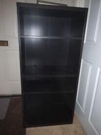 Black shelves adjustable