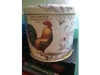Beautiful UNUSED large cake storage tin