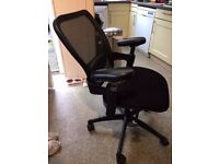 Lumbar Support Armrest Office Chair, Nearly New very Comfy