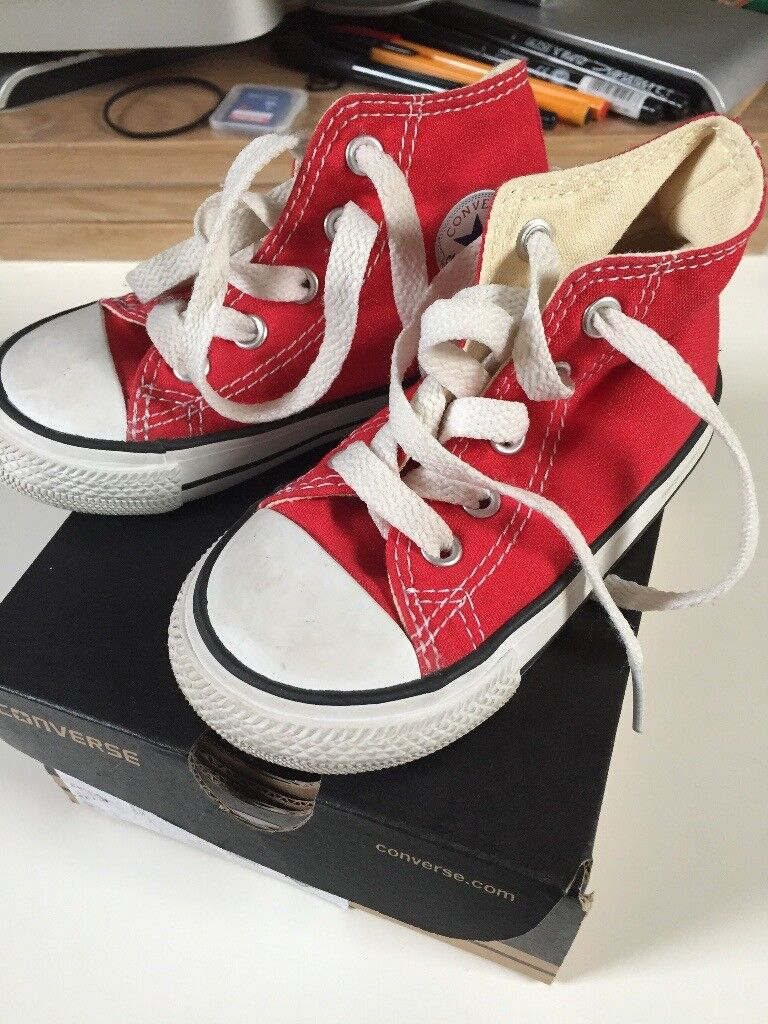Converse boots - infant size 6, red, almost as new