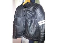 Leather motorbike jacket GearX