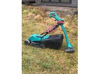 Bosch lawnmower and strimer