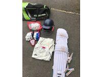 Full junior cricket kit