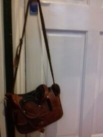 Real leather saddle handbag in very good condition.