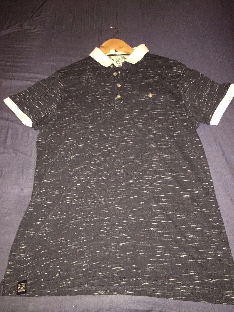 Mens designer 883 Police polo shirt Size 3 (Medium mens) Never worn.
