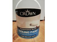 Crown Ceiling Paint White 2.5 ltr