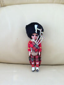 New - Mini doll Scottish piper