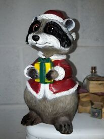 Xmas Raccoon decoration. Christmas