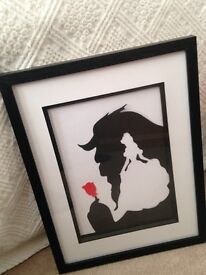 Beauty and the Beast Shadow Picture Art, Superman, Batman, Marilyn, Chewbacca, Storm Trooper