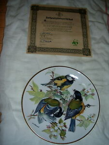 SET OF 8 EUROPEAN SONGBIRD PLATES WORLD WILDLIFE FUND (GERMAN) London Ontario image 6
