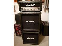 Marshall MG15HCFX Amplifier Stack