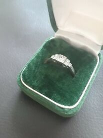 Certified 7 Diamond Platinum Engagement Ring