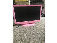 Small pink tv for sale